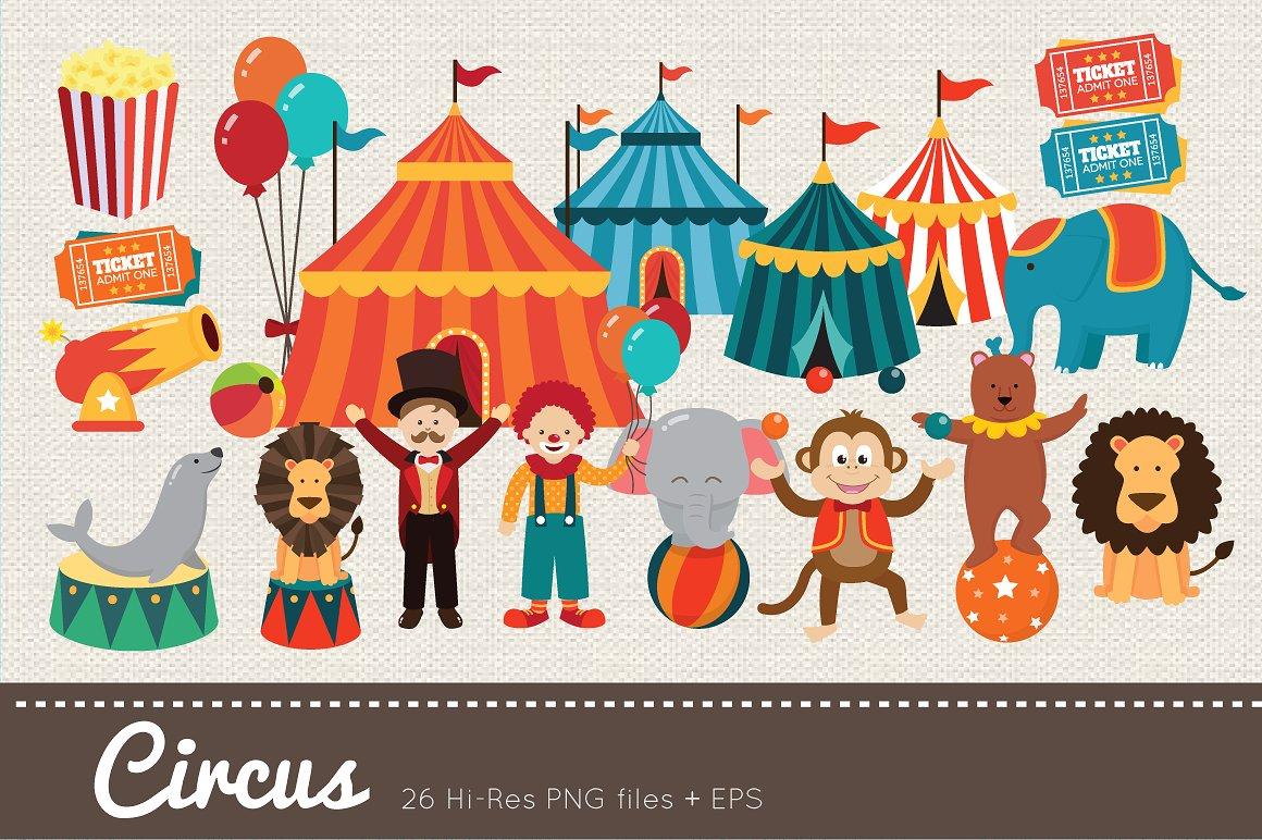 Penguin clipart circus ~  on Creative Circus