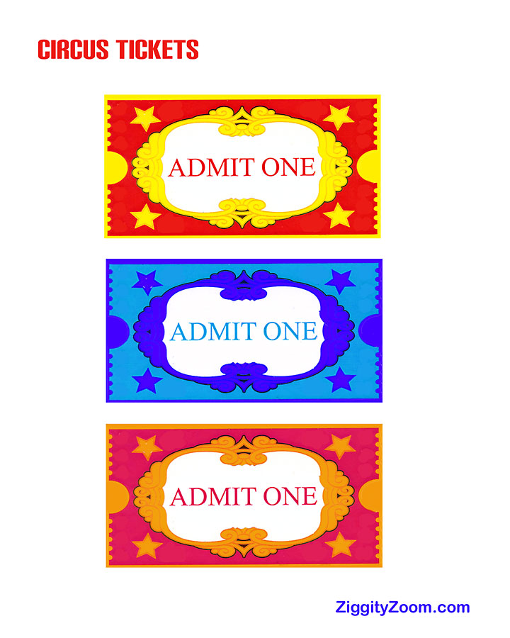 Circus clipart circus ticket Kids Tickets Carnival Circus Tickets