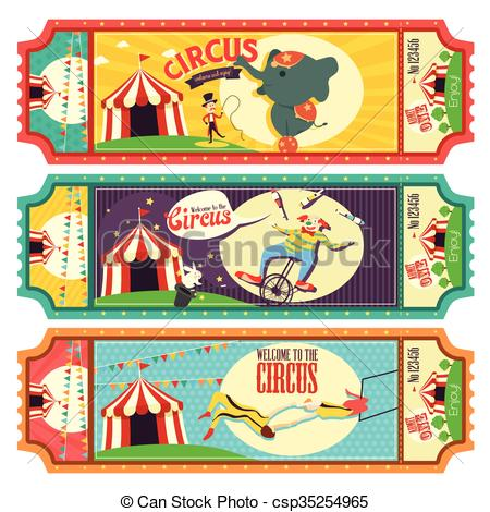 Circus clipart circus ticket Circus A Vector csp35254965 Ticket