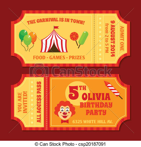 Circus clipart circus ticket Circus vintage of csp20187091 template