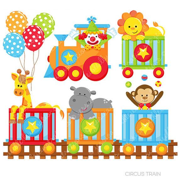 Train clipart cute #5