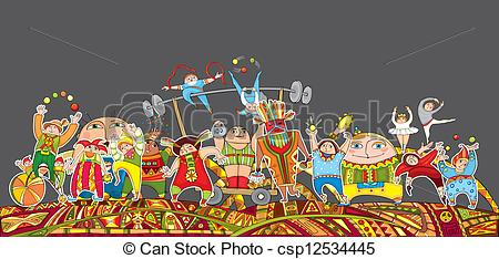 Crowd clipart abstract EPS Circus Crowd The Parade