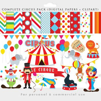 Decoration clipart circus Pinterest elephant clowns papers Circus
