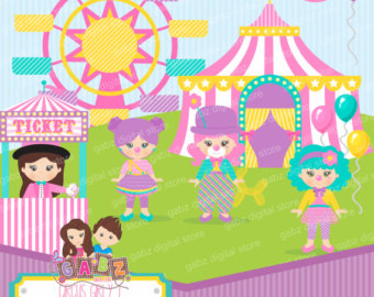 Circus clipart girly Carnivale Birthday Circus Girly Circus