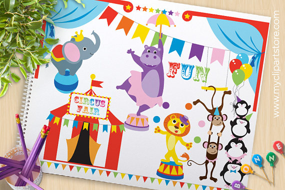 Penguin clipart circus Circus from hippo Clipart Carnival