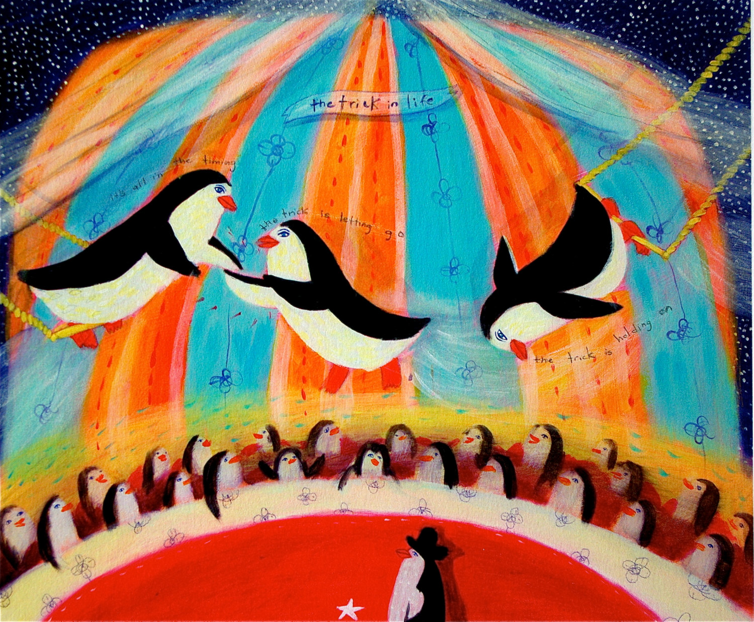 Penguin clipart circus In  Penguins/circus/trapeze limited The