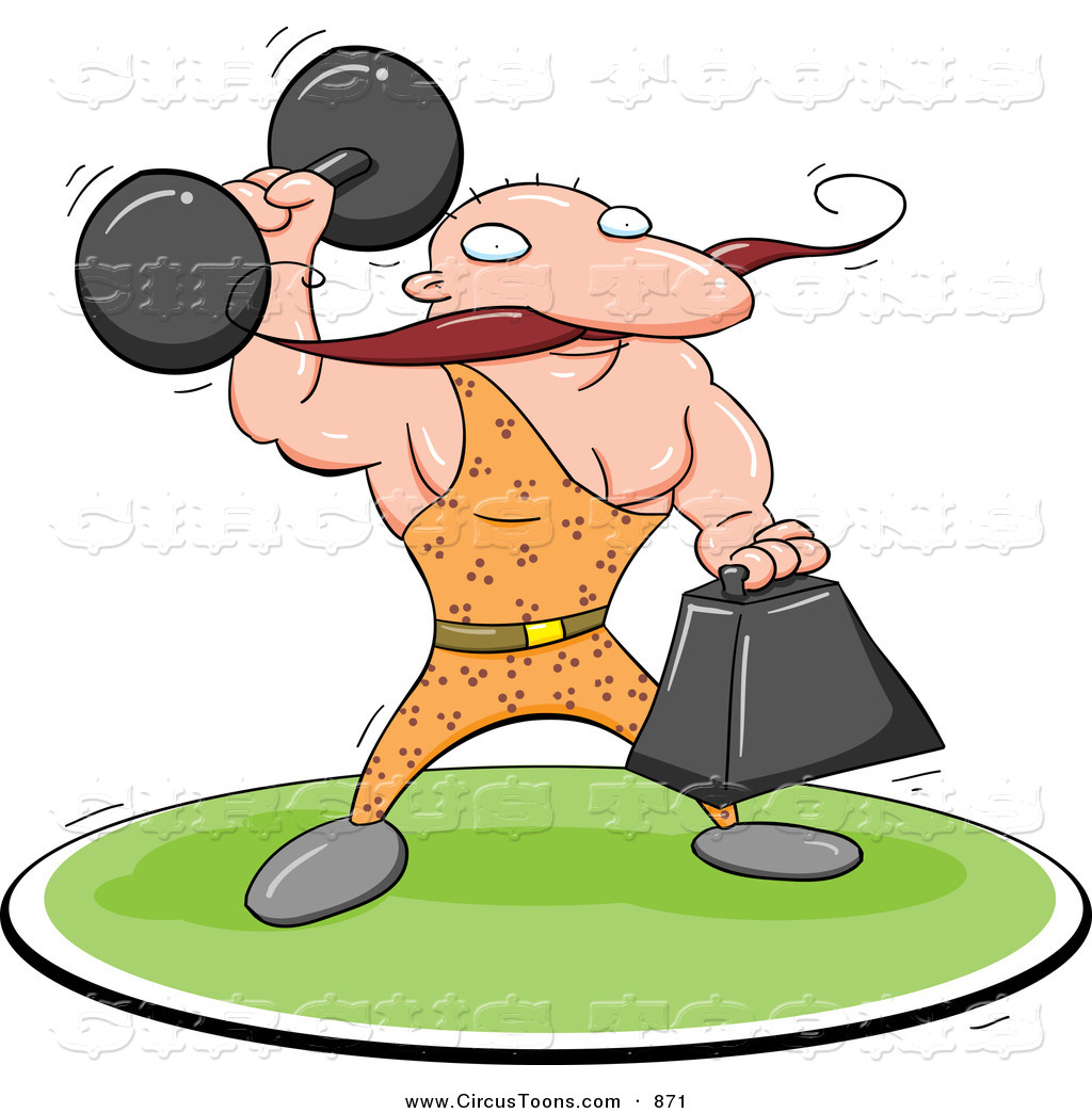 Larger clipart strong Circus Strong a Weights Clipart