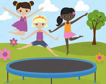 Circus clipart trampoline Vector Clipart Commercial Trampoline Images