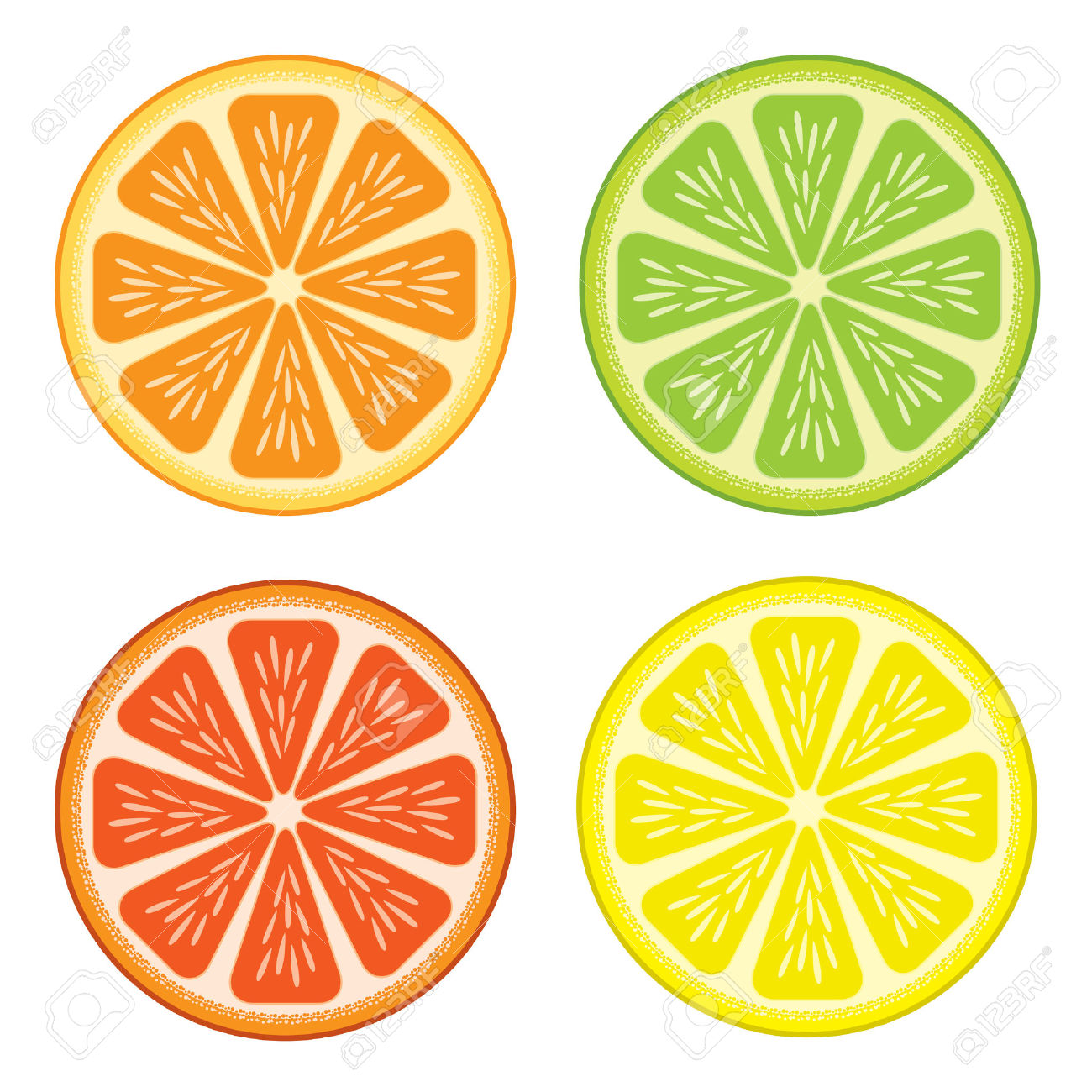 Grapefruit clipart orange wedge Clipartwork — Clipart Free (4129)