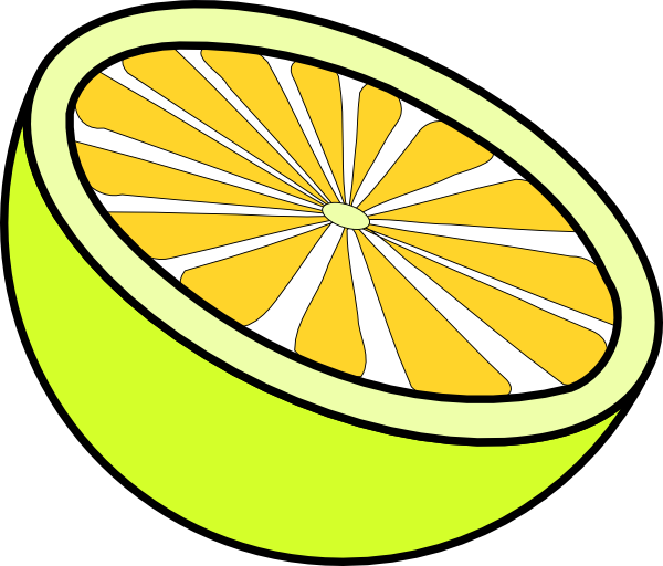 Lemon clipart small Vector this online clip Cut