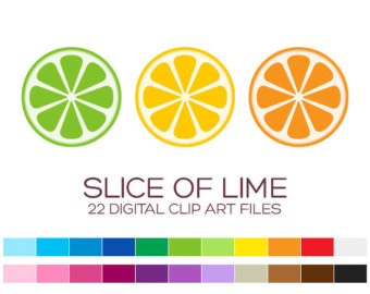 Citrus clipart sliced 5x2 / Of 22 &