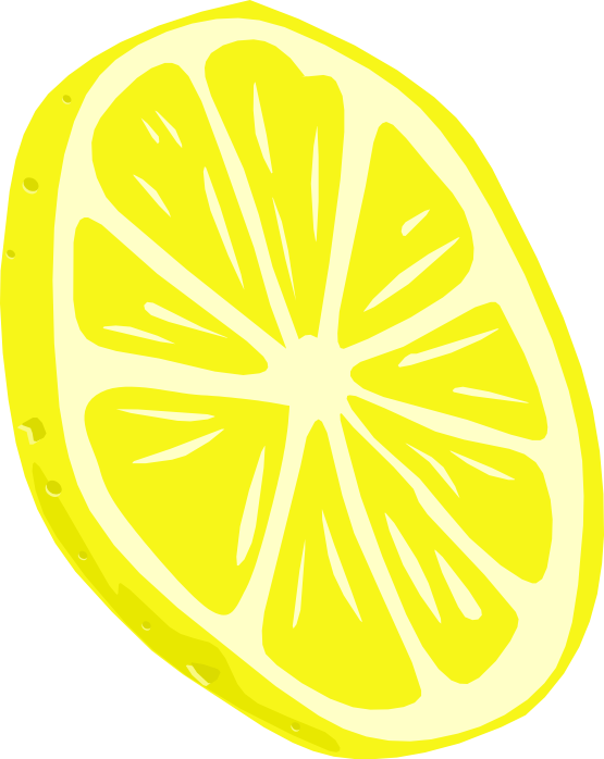 Citrus clipart sliced Clip Sliced Public to Lemon