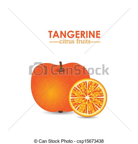 Tangerine clipart honey tangerine Over background white  tangerine