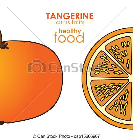Tangerine clipart honey tangerine Vector csp15666967 Clipart Fruit Free