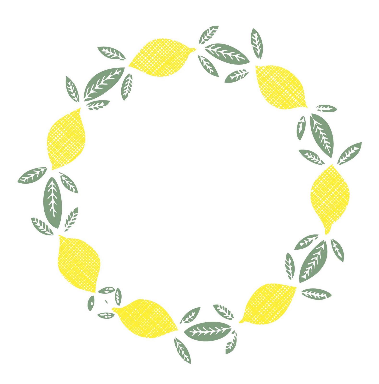 Wreath clipart citrus Wreath Print Lemon Dec Wreath