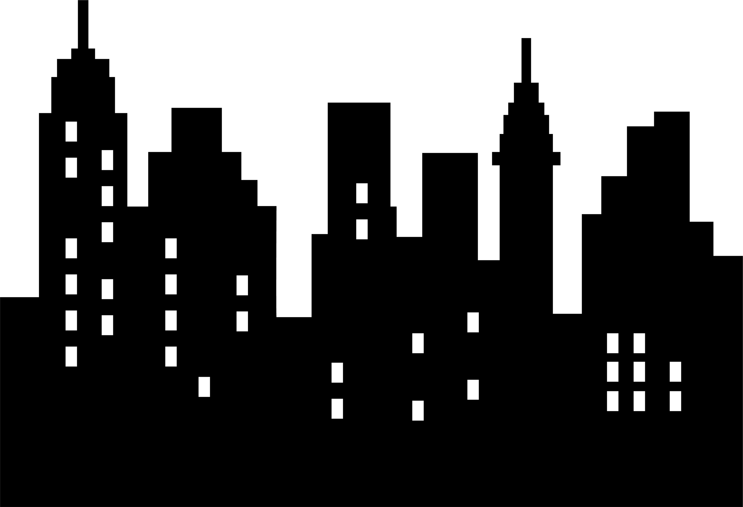 Drawn skyline famous Com city clipart Cartoon art