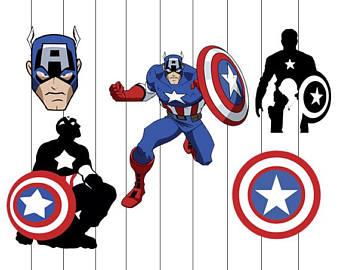 America clipart avenger Captain America Etsy svg clipart