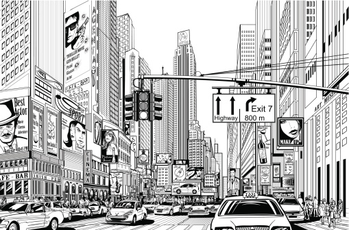City clipart crowded City hd Street Crowded 509x336