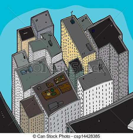 City clipart crowded Of Crowded Buildings View Buildings