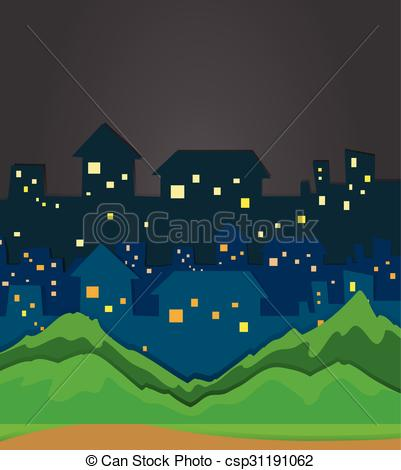 City clipart night time Clip night City at csp31191062