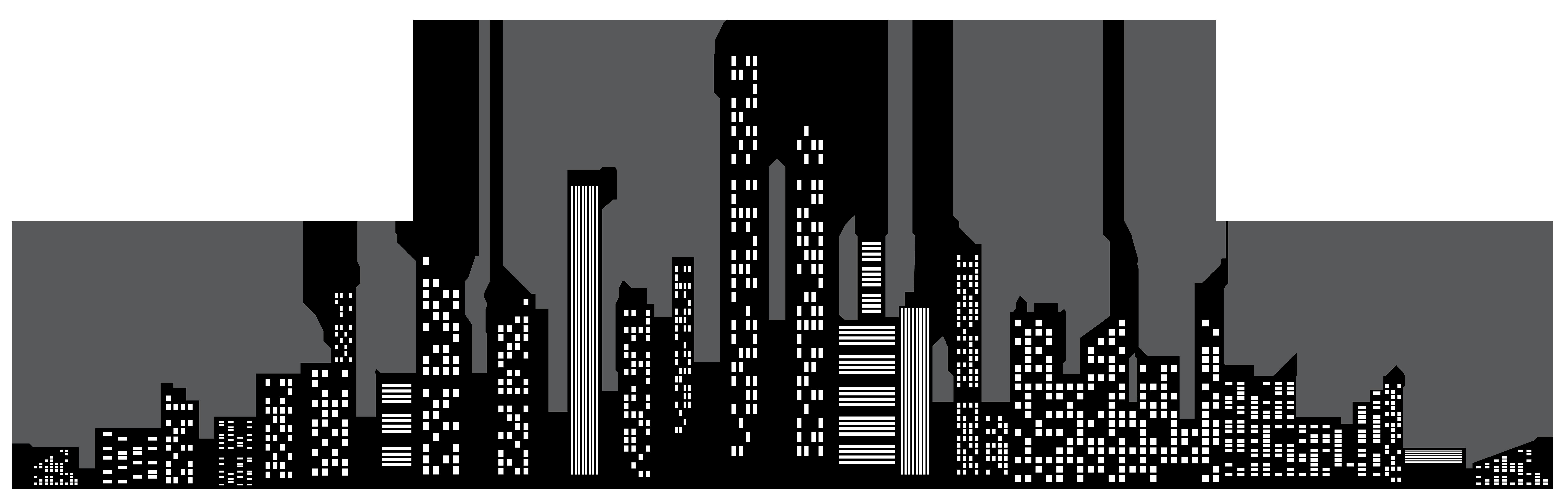 Cityscape clipart  Silhouette Clip View size