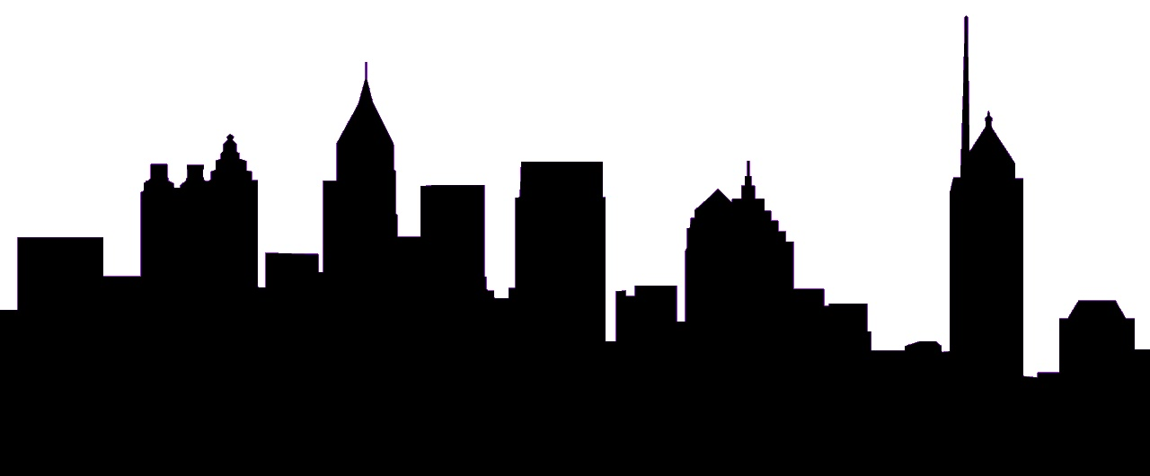Drawn skyline abstract Cityscape art Cityscape 2 vector