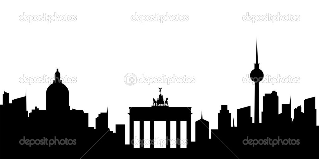 Cityscape clipart berlin Time Time lapse at skyline