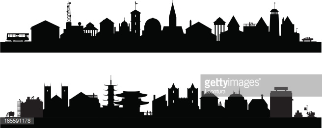 Cityscape clipart building shadow Vector city Rooftop Search Google