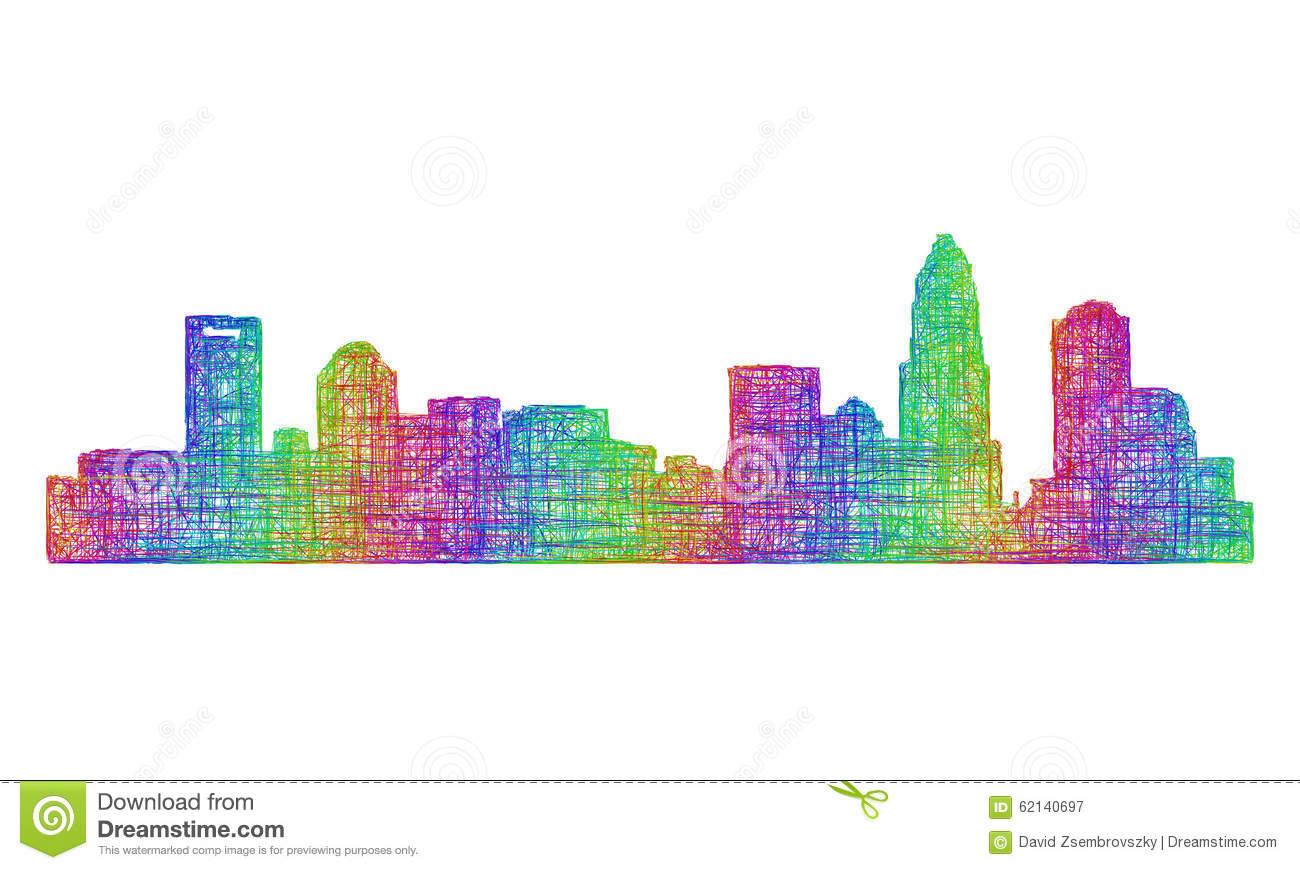 Miami clipart charlotte skyline Silhouette Multicolor clipart Skyline collection