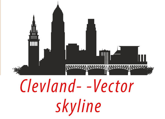 Miami clipart Vector eps Cleveland Silhouette Clipart