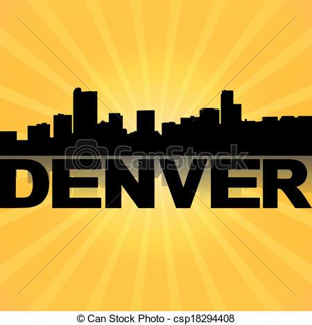 Denver clipart Mountain Clipart Csp18294408 Illustration skyline Denver skyline