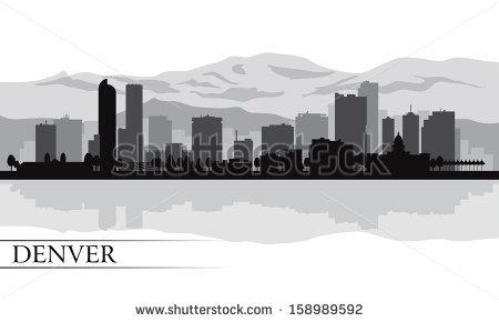 Denver clipart Mountain Clipart Illustration Denver silhouette Denver city