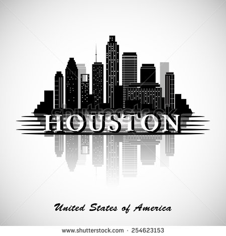 Cityscape clipart one City silhouette city skyline Texas