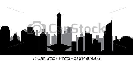 Cityscape clipart jakarta Image jakarta jakarta Stock skyline