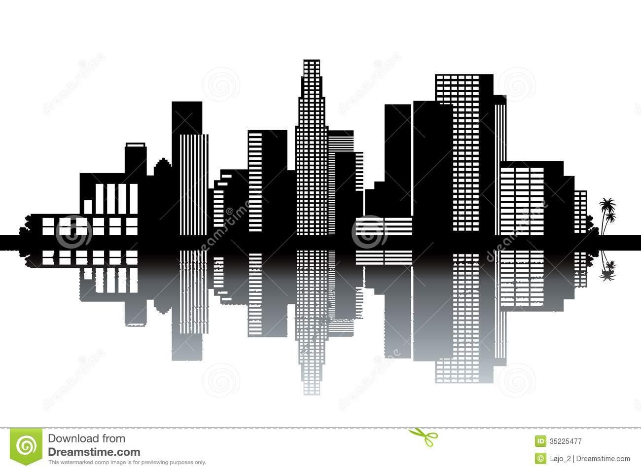 Cityscape clipart la skyline Angeles  hd clipart skyline