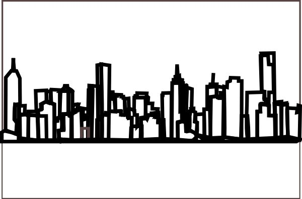 Cityscape clipart letter Vector Sketches Pinterest Snow and
