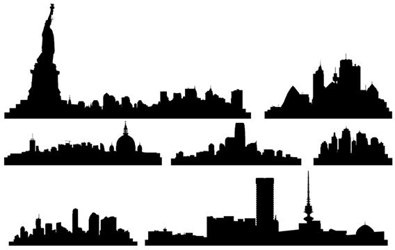 Cityscape clipart letter Vector vector Buildings  Skylines