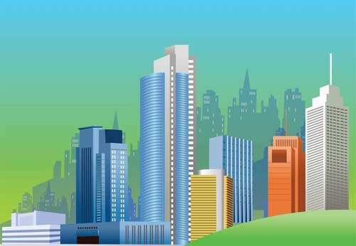 Cityscape clipart office building Format Free Can Use that
