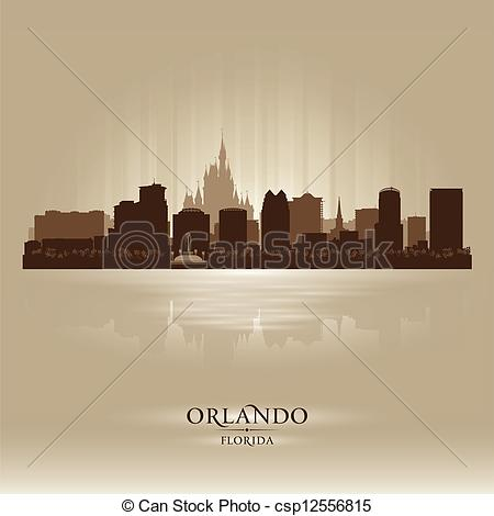 Cityscape clipart orlando skyline City Orlando silhouette Art Vector