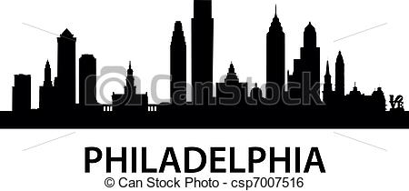 Drawn city Illustration Art Philadelphia Skyline Clip