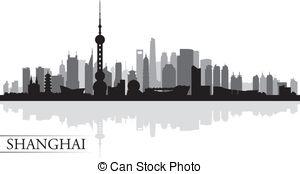 Cityscape clipart shanghai 1 royalty vector silhouette