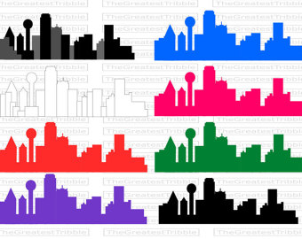 Miami clipart dallas skyline Etsy Clip [Color + SVG