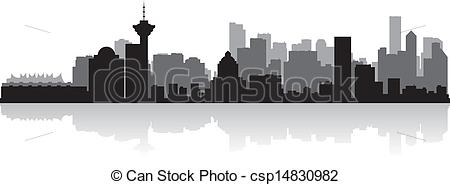 Cityscape clipart vancouver City vector silhouette of city