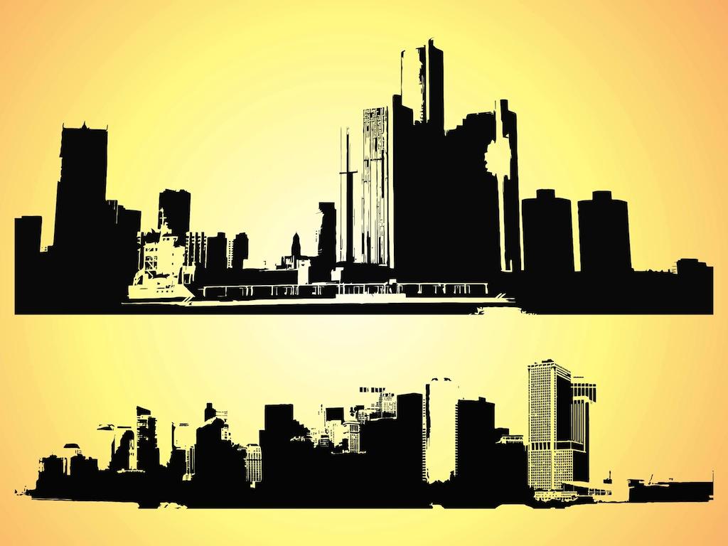 Cityscape clipart vector Free image clipart city 4