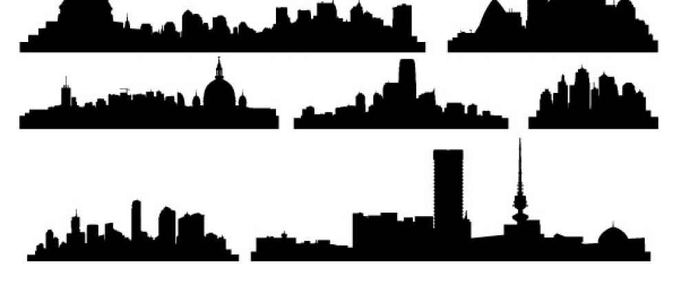Cityscape clipart vector free download Clipart on Free Clip library