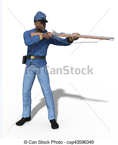 Gun Shot clipart man African  Drawing of Civil