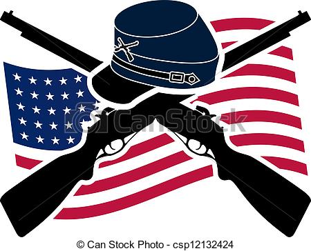 Civil War clipart bull run Stock American 342 and Stencil
