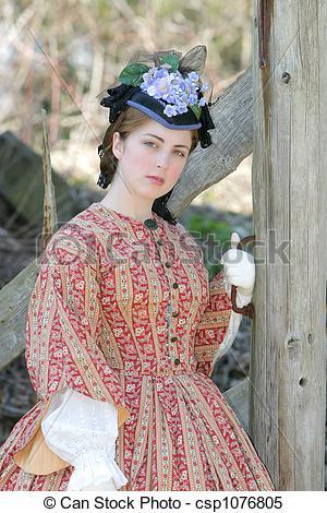 Civil War clipart lady Outdoor war woman era of