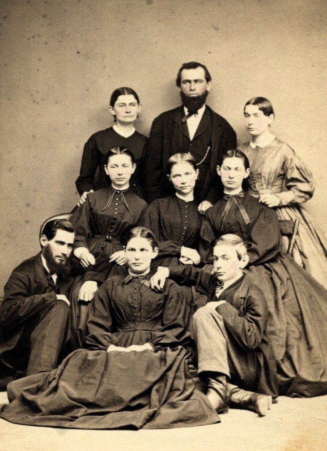 Civil War clipart lady PA CDV Readiing photos Women