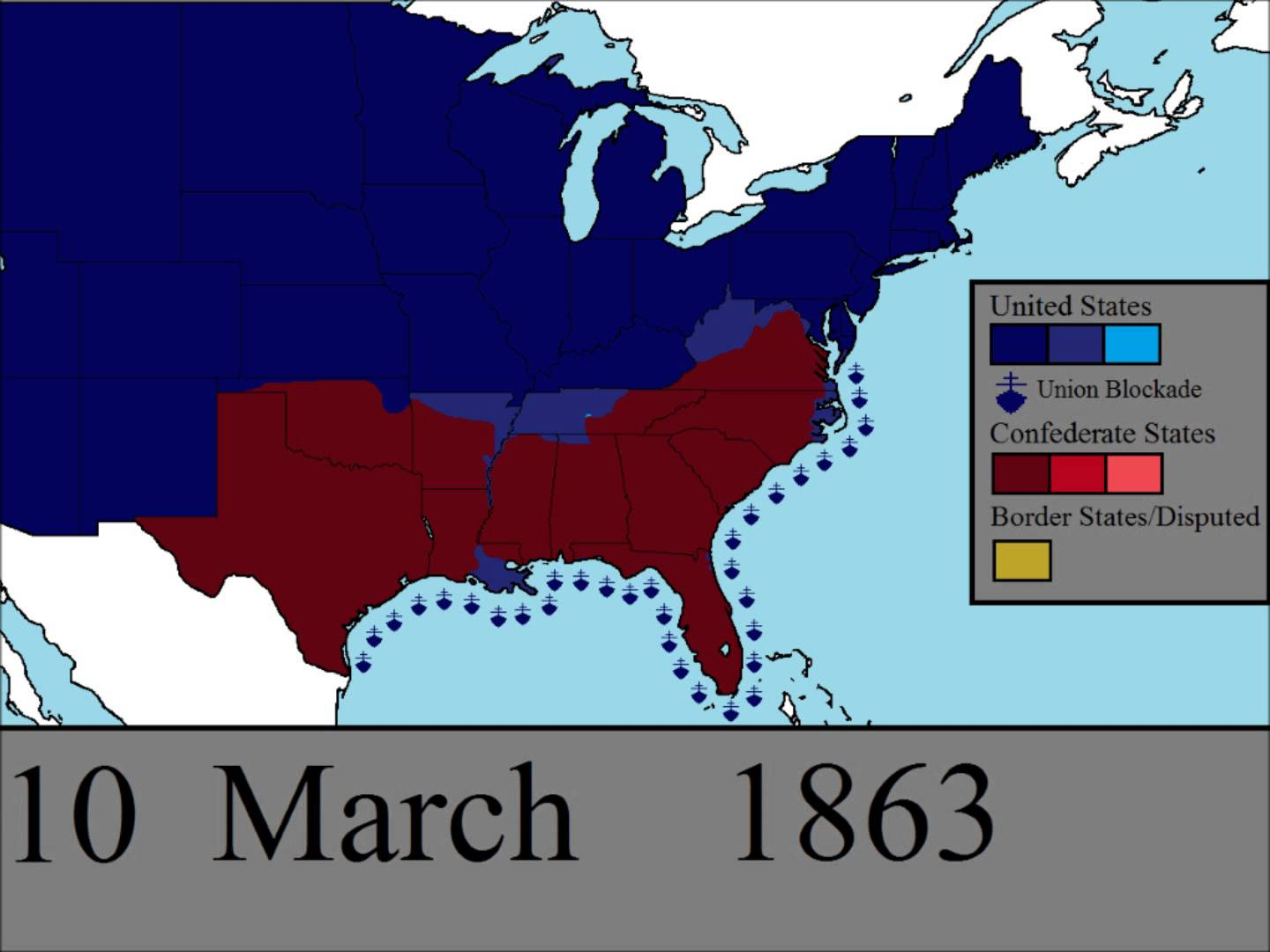 Civil War clipart north and south america Timeline In Day Civil war